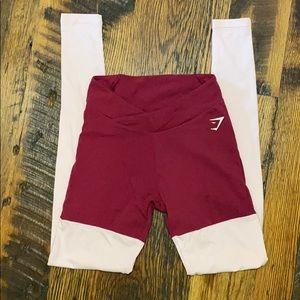 Gymshark two tone booty contour v-cut leggings